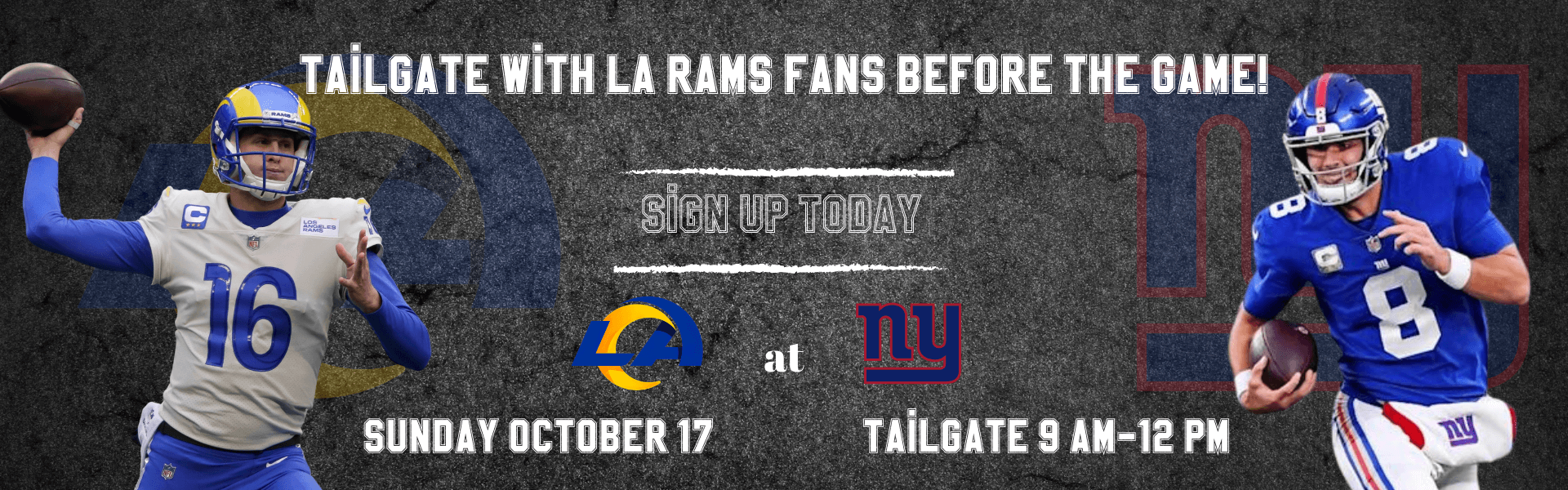 LA Rams tailgate