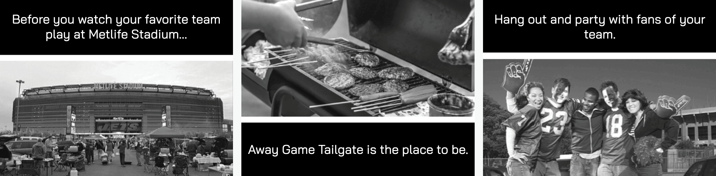away game tailgate party